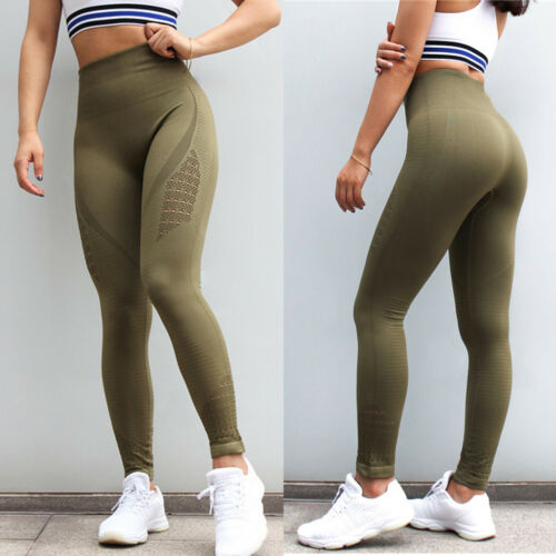 Hot Women High Waits Sports Leggings Spliced Yoga Pants Workout Athletic Clothes