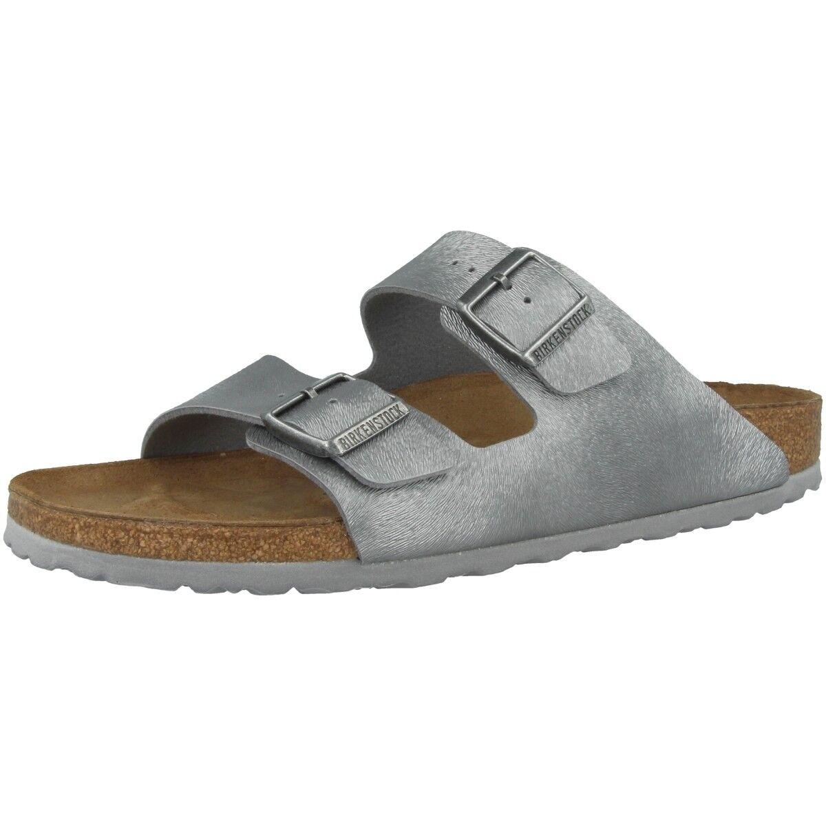 Birkenstock Arizona Birko-Flor Schuhe Sandale animal gray Weite schmal 1008690