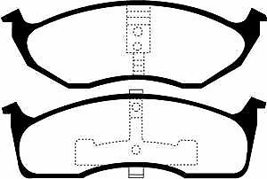 DP41623R-EBC-Yellowstuff-Plaquettes-Frein-Avant-Ajustement-CHRYSLER-PLYMOUTH-NEON-PROWLER