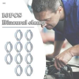 10pcs-set-Double-Ear-Hose-Clamps-Fuel-Pipe-Water-Hose-Clamp-Carbon-Steel