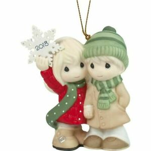 Precious-Moments-Our-First-Christmas-Together-2018-Dated-Porcelain-Ornament-NEW