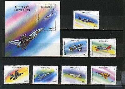 Verkehr & Transport Tansania 1994 Sc #1160-1167 Militär Luftfahrt 7er Set Stempel & S/s Mnh