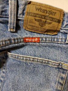 Wrangler 36x30 Jeans Pantalones Vintage Denim Vaquero Para Hombre De Trabajo Ebay