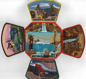 2017 National Scout Jamboree Grand Canyon Council JSP 5pc. Set [NJ357]