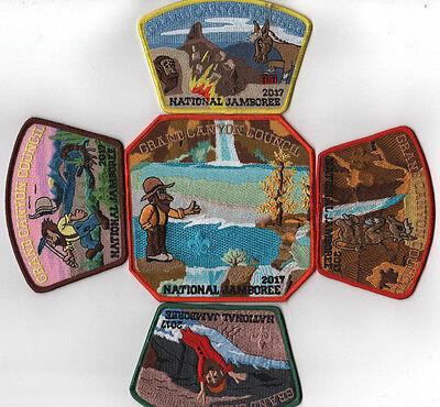 NJ2075 2017 National Scout Jamboree Orange County Council 7 pc Set Waves JSP