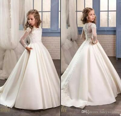 Communion Formal Prom Princess Gown Pageant Bridesmaid Wedding Flower Girl Dress