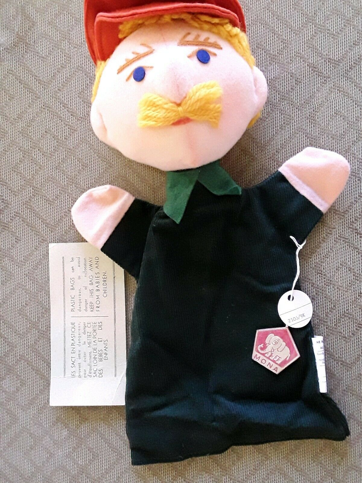 VINTAGE He fatto PUPPET BY MONA  CZECH BRe nuovo IN FACTORY borsa WITH TAGS   A28  classico senza tempo