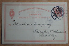 1913 POSTAL CARD FROM DANMARK FROM THE DANISH FARMER BANK MORTGAGE