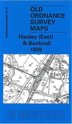 OLD ORDNANCE SURVEY MAP HANLEY ETRURIA 1898 GRAFTON STREET ARGYLE STREET