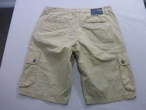 087 MENS NWOT MOSSIMO S/POCKETS RELAXED FIT TAN CARGO SHORTS 32 $100 RRP.