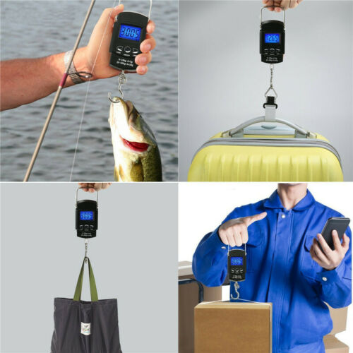 110lb//50kg Fishing Weight Scale LCD Electronic Digital Luggage Hanging Scale