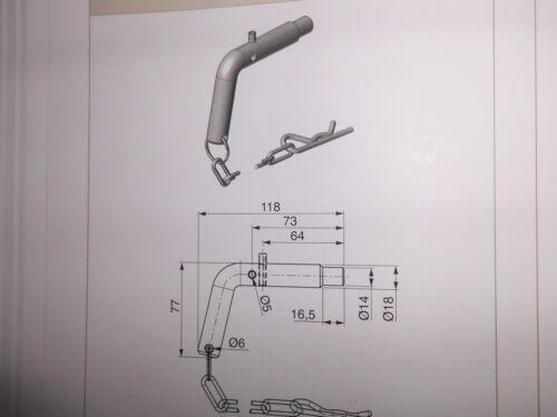 Steckbolzen für Kugelpfanne TYP 2 18-14 mm abgesetzt