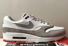 Nike Air Max 1 Size 12 White Wolf Grey Black Mens Shoe Ah8145-113