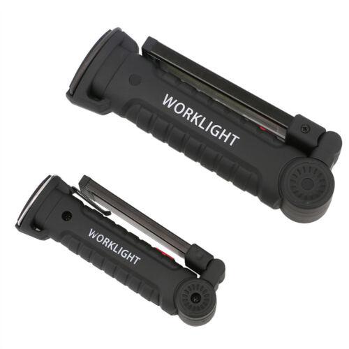 Rechargeable COB LED Slim Work Light Lamp Flashlight Inspect Folding Torch //FA