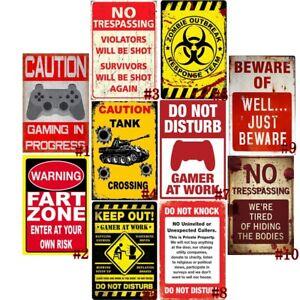 DO NOT KNOCK//DISTURB SIGN Metal Tin Sign Wall Dec