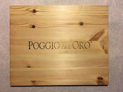 Home & Garden Shop For Cheap 1 Rare Wine Wood Panel Poggio All'oro Vintage Crate Box Side 4/18 610