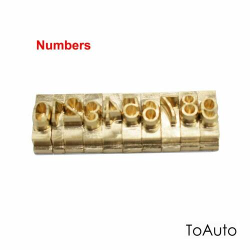 Flexible Brass Mold Alphabet Letter Number Symbol Hot Stamping Embossing Machine