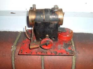 1930'S BOWMAN M180 STATIONERY STEAM ENGINE 14CMS LONG 11.5 CMS WIDE 10 HIGH/TALL