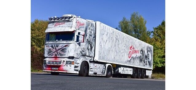Herpa 121958 Scania R TL Trattore Case  The Stones  , 1 87 H0