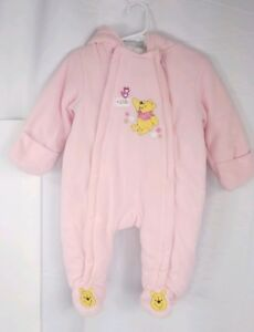 cb336c4a9 Disney Winnie the Pooh Bear Infant Snow Suit Hooded Bunting Size 6 ...