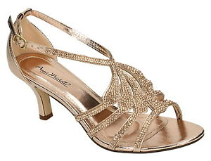 f3987ddb6c7a Image is loading Anne-Michelle-F10580-Ladies-Rose-Gold-Diamante-Sandals