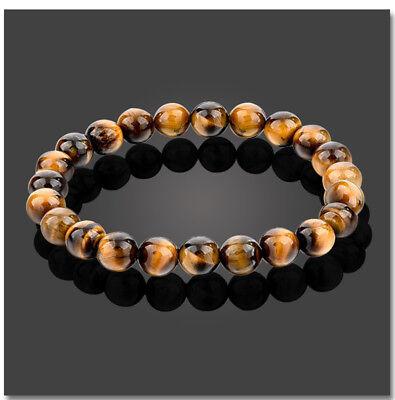 Tigerauge rot Armband Bracelet Perlenarmband Buddhakopf gold 8mm