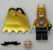 NEW LEGO BAT-PACK BATSUIT BATMAN MINIFIG gold figure 70909 movie + head