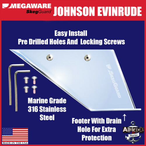 Skeg Guard Evinrude Johnson 40-50hp 4 Strokes 1999-2003 Megaware USA Protector