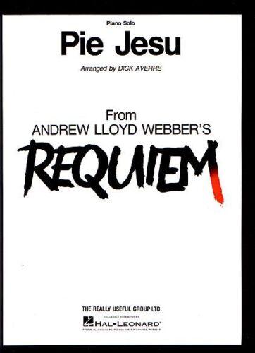 Pie Jesu Piano Solo Sheet Music Piano Solo NEW Andrew Lloyd Webber 000354824
