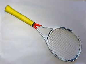 Babolat Pure Strike 100 - Grip 4 3/8 - Lightly Used - White Head Yellow Grip