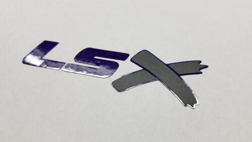 LSX Sticker decal vinyl ls x for chevy GM Gloss Purple Flat Black X