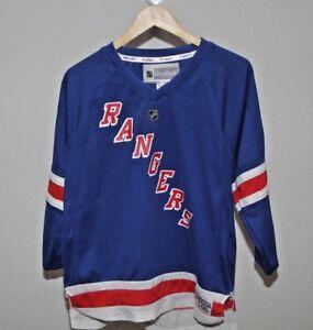 3b0248687 New York Rangers Henrik Lundqvist  30 Reebok Youth L XL Blue NHL ...