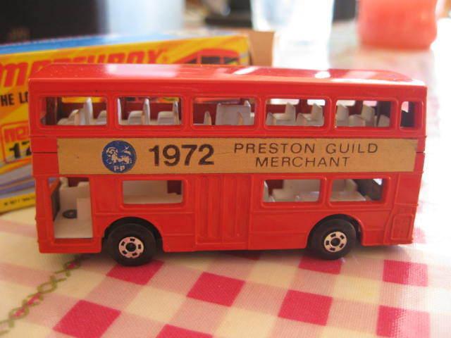 MiB Matchbox MB17 London bus - Preston Guild Merchant early 1970 promotional