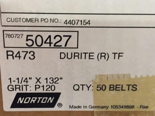 "NORTON 1 1//4/"" X 132/"" GRIT P120 DURITE BELT"