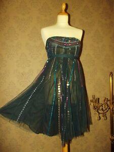 Tl Ou Pampilles Cocktail Dress Batik 40 Antik Robe Bustier wxZYqH7