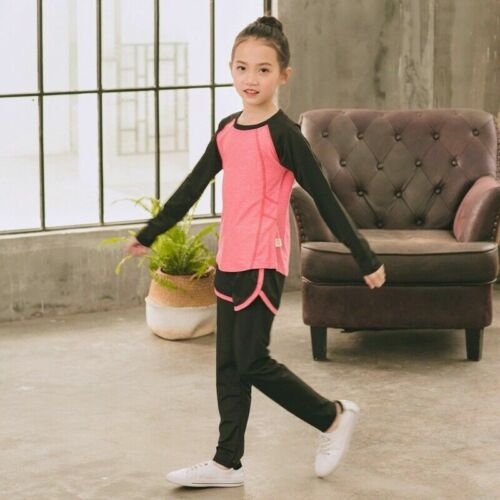 Pants Kids Bodybuilding Quick Drying Outfits Yoga Wear Suit 2x Girls Sport Top