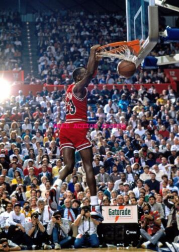 "MICHAEL JORDAN Dunk NBA Poster 24/"" X 36/"" NEW 4"