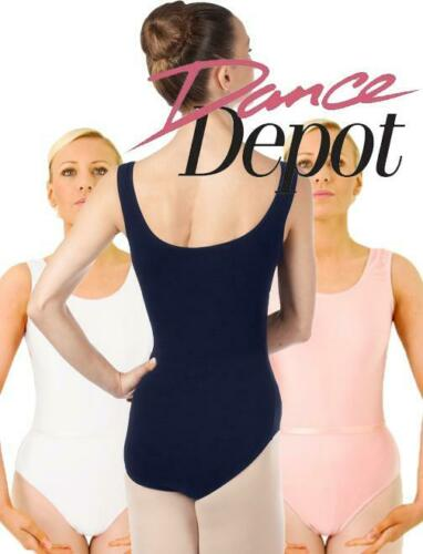 White Pink Dance Depot Womens June Leotard With Belt Navy