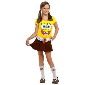 Image is loading SpongeBob-Costume-Girl-Kids-Toddler-Halloween-Fancy-Dress  sc 1 st  eBay & SpongeBob Costume Girl Kids Toddler Halloween Fancy Dress | eBay