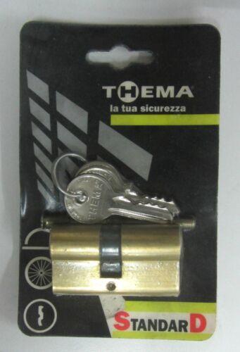 Cilindro Sagomato decentrato Thema Made In Italy 22-26 mm 58 mm totale ottonato