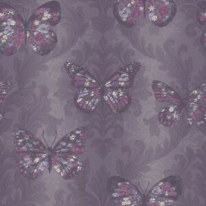 plum butterfly wallpaper