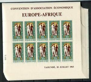 36281a) Niger 1963 MNH Europafrica Ms (x20)