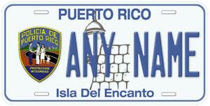 Find License Plate Number By Name >> Details About Puerto Rico Police Policia Any Name Number Novelty Car License Plate