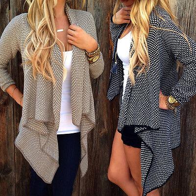 Fashion Women Long Sleeve Knitwear long Cardigan Outwear Jacket Coat Sweater Top