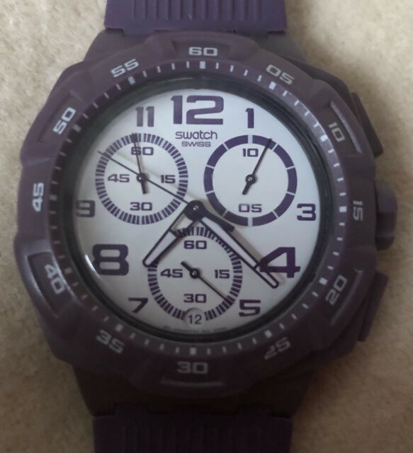 Vintage Chronograph Swatch Watch ( Purple Funk).