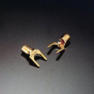 2X-Furutech-Fp-203g-203-G-Terminales-de-Cable-Pica-Conector-Dorado-Oro-Plated