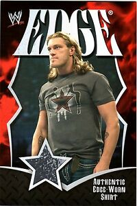 WWE-Edge-2008-Topps-Collectors-Set-Jumbo-2-Color-Event-Worn-Shirt-Relic-Card