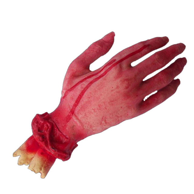 Halloween Scary Fake Body Parts Bloody Arm Hand Foot Severed Prank Funny O3
