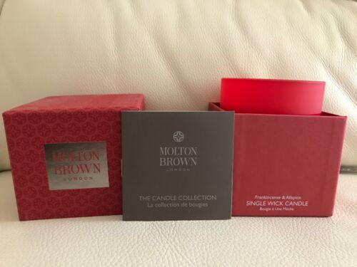 Molton Brown 180 g Encens /& Piment de la Jamaïque Parfumée Unique Mèche bougie NEUF