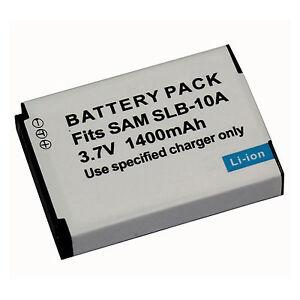 Samsung-Camera-battery-SLB-10A-SLB10A-For-TL240-WB600-WB650-L100-AU-Local-ship